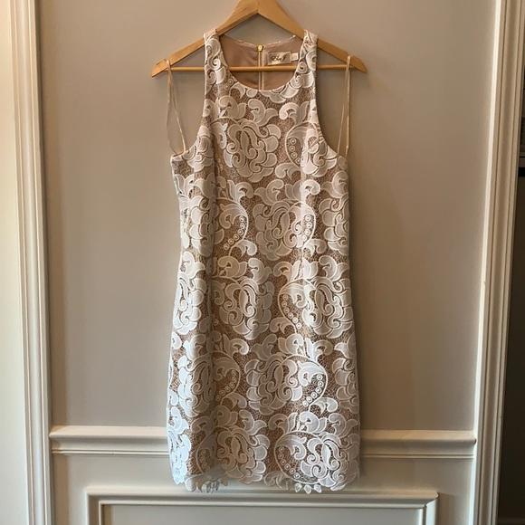 Eliza J White Lace Sheath Dress sz 12 NWOT